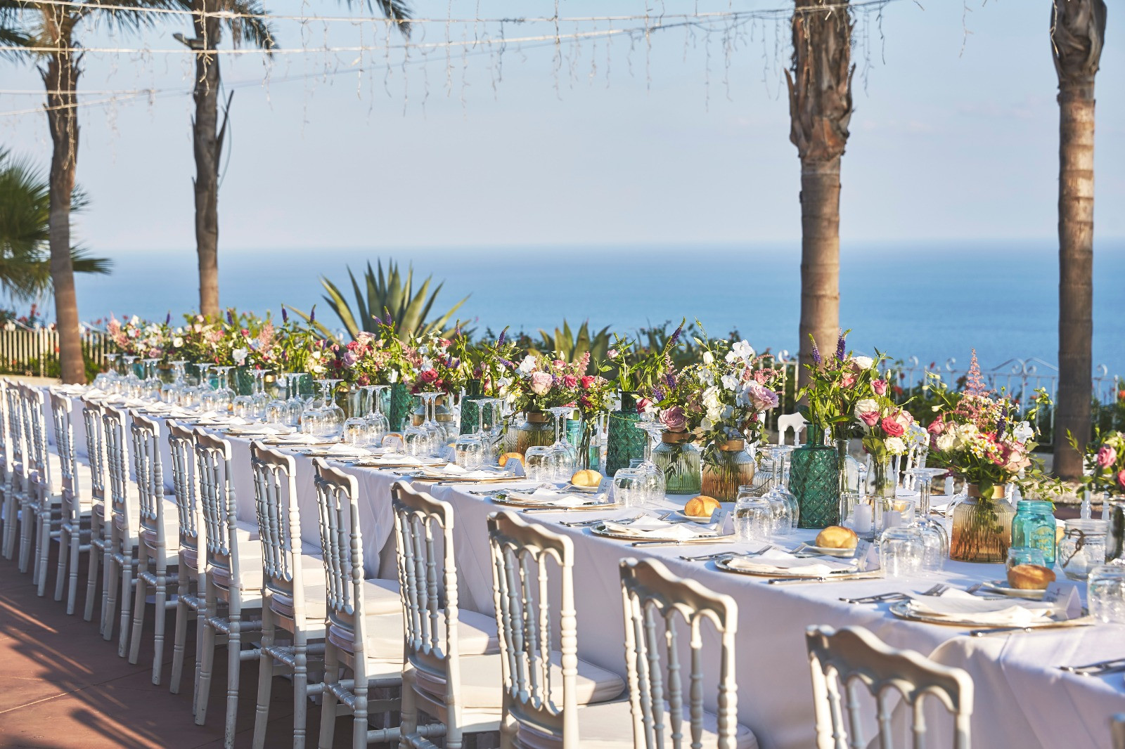 Wedding dinner table Sicily
